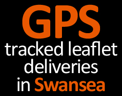 gps tracked leaflet delivery swansea