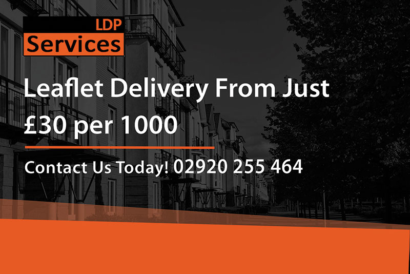 ldp services leaflet delivery cardiff from 30 pounds